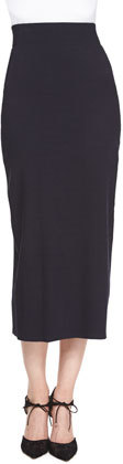 Donna Karan High-Waist Midi Skirt, Midnight by Donna Karan