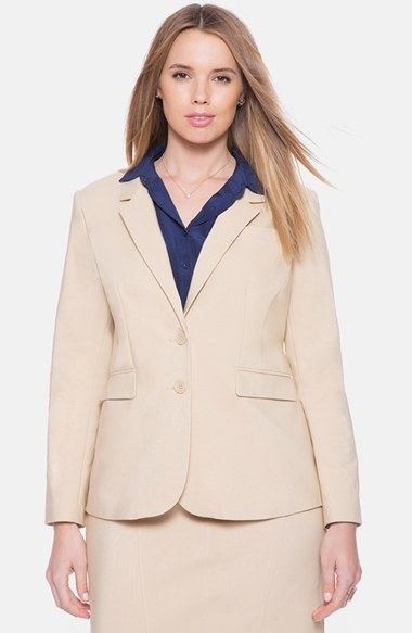 ELOQUII 'Sydney' Double Weave Suit Blazer (Plus Size) by ELOQUII
