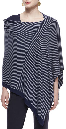 Eileen Fisher Cozy Stretch Striped Poncho by Eileen Fisher