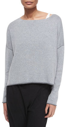 Eileen Fisher Organic Cotton Box Top, Dark Pearl by Eileen Fisher