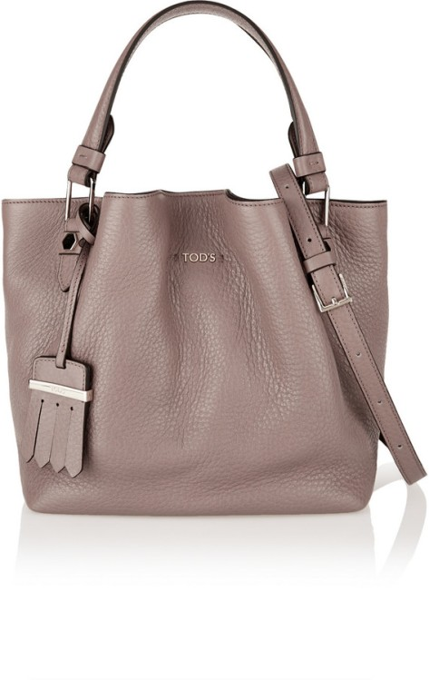 Tod's Flower Medium Textured-Leather Shoulder Bag by Tod's