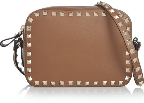 Valentino The Rockstud Leather Shoulder Bag by Valentino