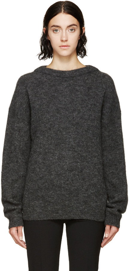 Acne Studios Gray Mohair Sweater by Acne Studios