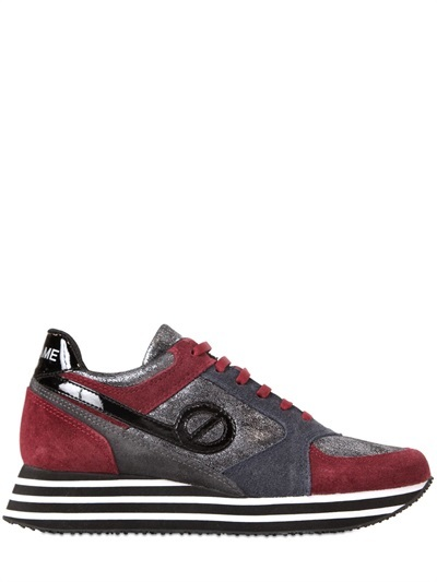 30mm Parko Jogger Leather Sneakers by No Name