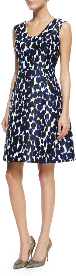 Kate Spade New York Sleeveless Animal-Print Fit & Flare Dress by Kate Spade