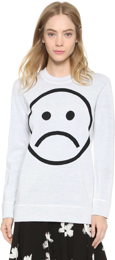 Marc by Marc Jacobs Sad Face Sweater by Marc by Marc Jacobs