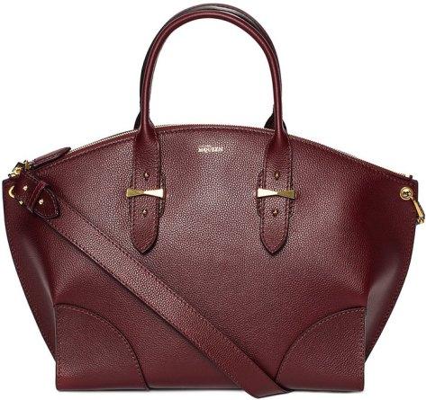 Alexander McQueen Legend Leather Satchel Bag, Bordeaux by Alexander McQueen