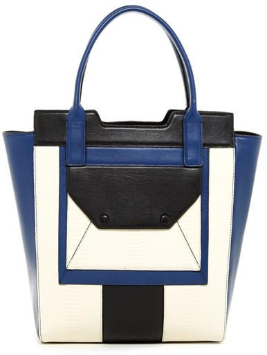 BCBGMAXAZRIA Colorblock Leather Tote Bag by BCBGMAXAZRIA