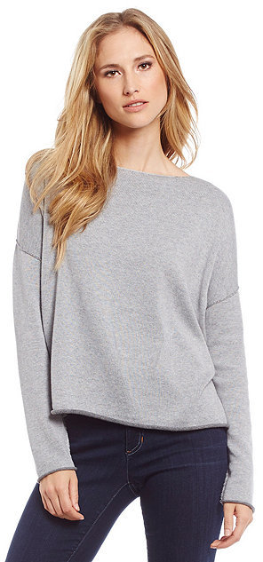 Eileen Fisher Bateau Neck Box Top by Eileen Fisher