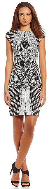 Julia Jordan Geometric-Print Sheath Dress by Julia Jordan