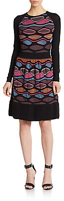 Printed Contrast-Panel Knit Dress by M Missoni